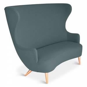 Wingback Sofa - Green Tonus 4 0615, Copper Legs