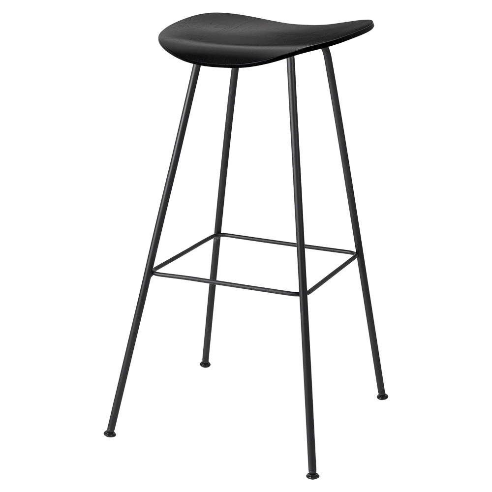 Swell 2D Bar Stool Black Stained Birch Black Center Base Creativecarmelina Interior Chair Design Creativecarmelinacom