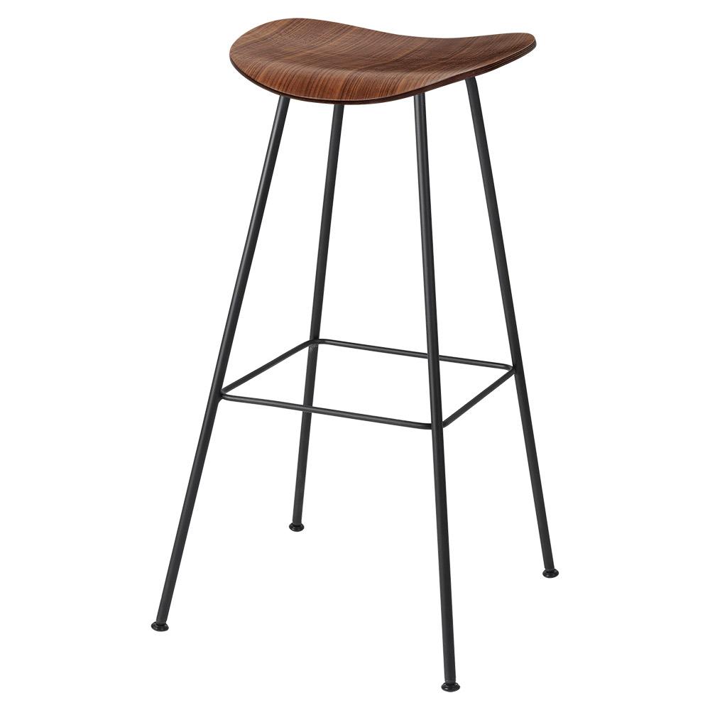 Cool 2D Counter Stool American Walnut Black Center Base Inzonedesignstudio Interior Chair Design Inzonedesignstudiocom