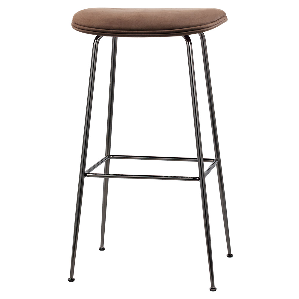 Phenomenal Beetle Bar Stool Brown Nubuk Leather Black Chrome Base Andrewgaddart Wooden Chair Designs For Living Room Andrewgaddartcom