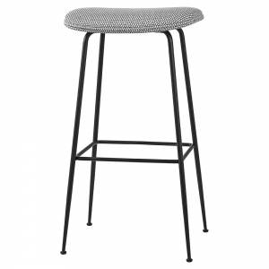 Beetle Bar Stool - Gray Korb, Black Base