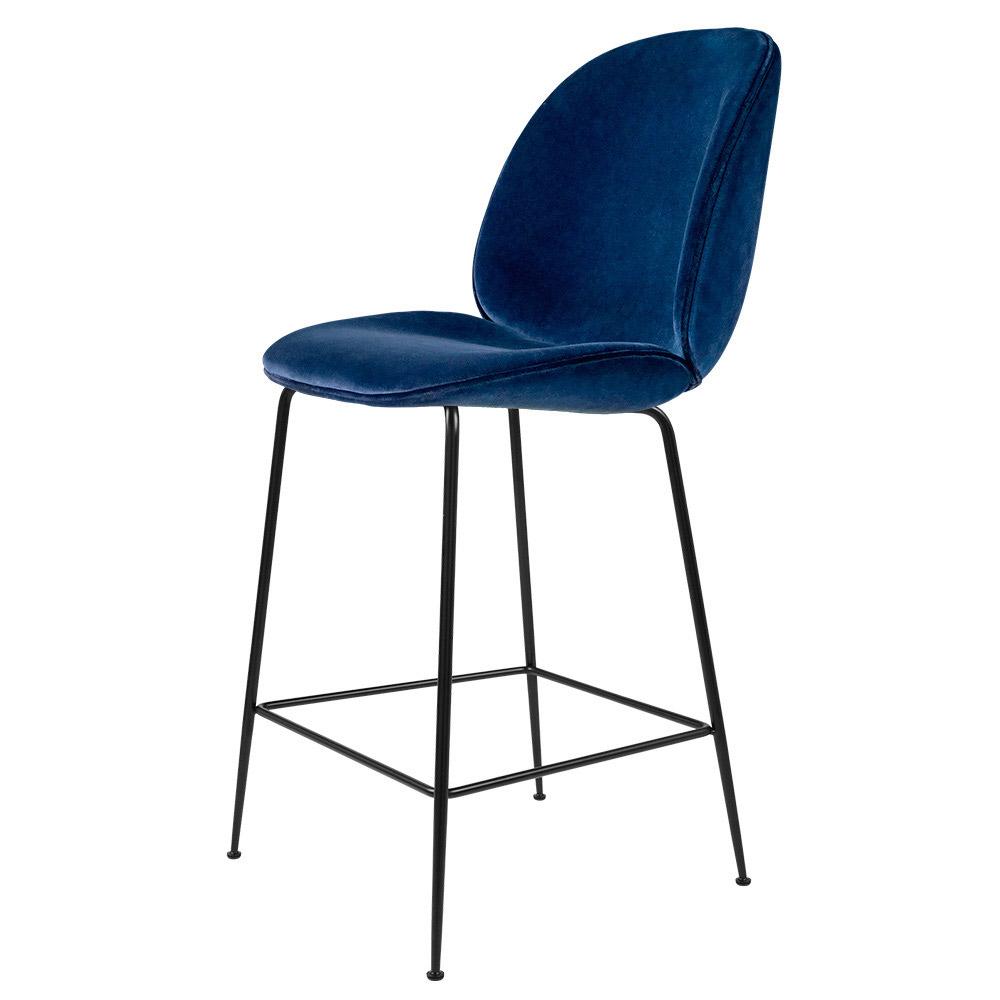 Beetle Fully Upholstered Bar Chair Velvet Black Base Rouse Home