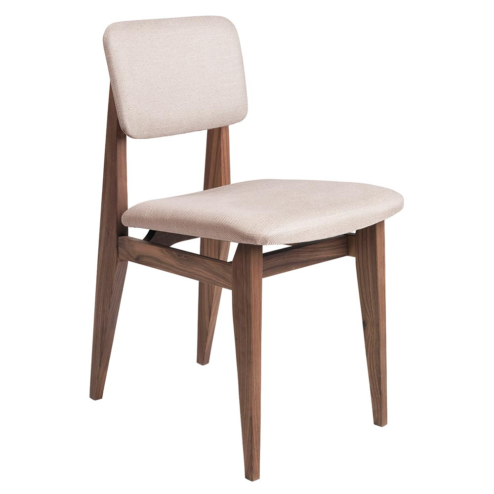 C chair fully upholstered dining chair sinequanon french cane back oak oiled