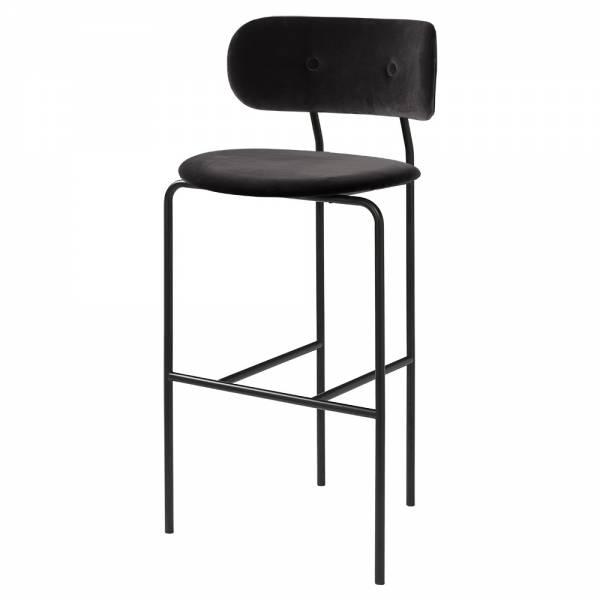 Coco Bar Chair - Black Velvet