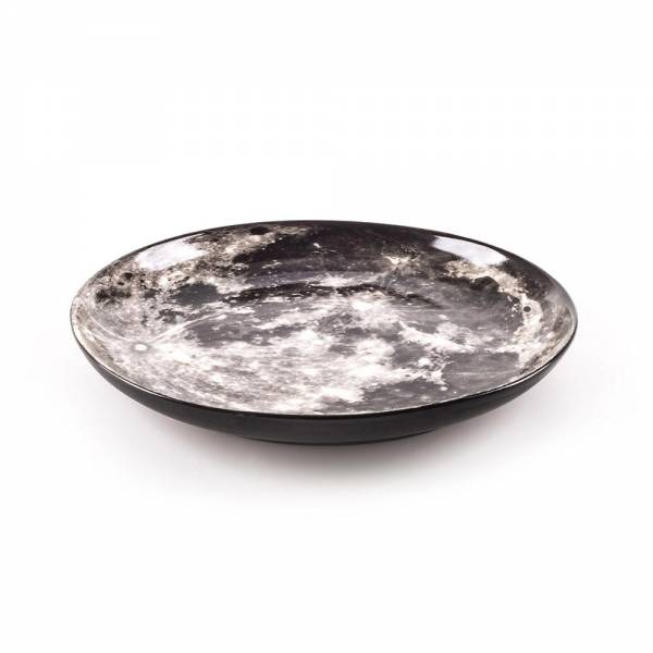 Cosmic Dinner Porcelain Plate - Moon
