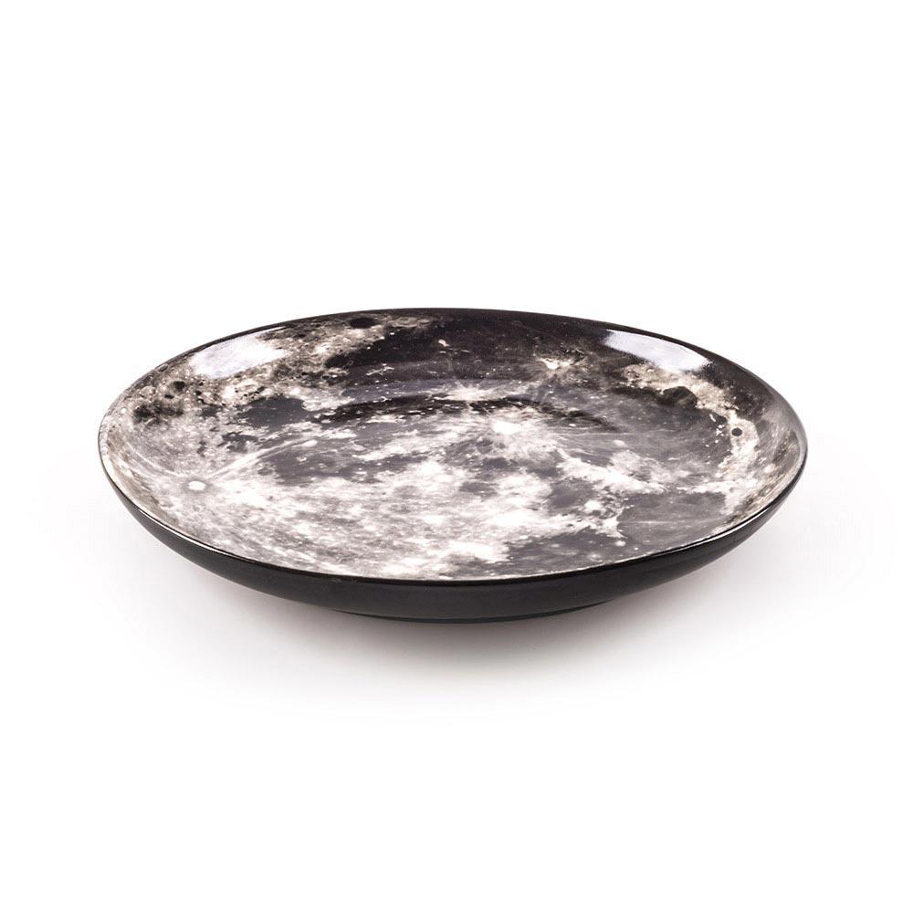 Cosmic Dinner Porcelain Plate - Moon
