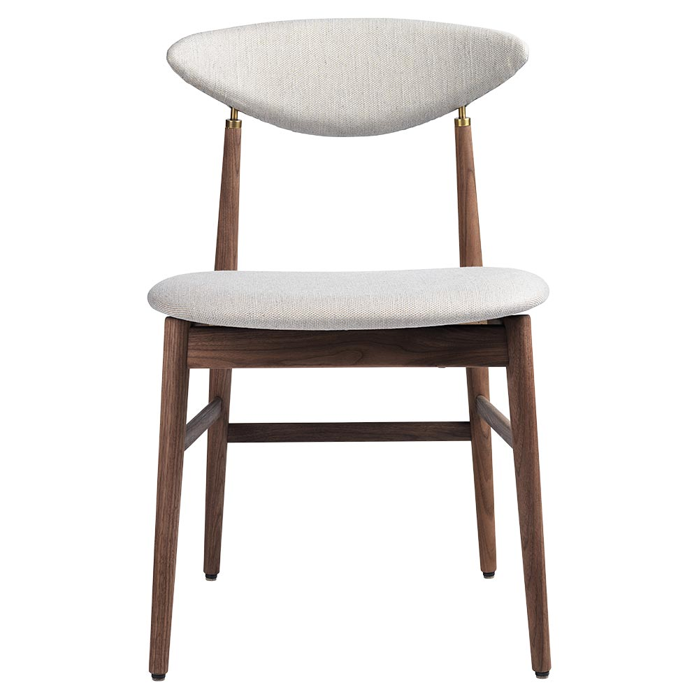 Gent Fully Upholstered Dining Chair - Sinequanon, American Walnut Oiled,  Antique Brass - Gent Fully Upholstered Dining Chair – Sinequanon, American Walnut
