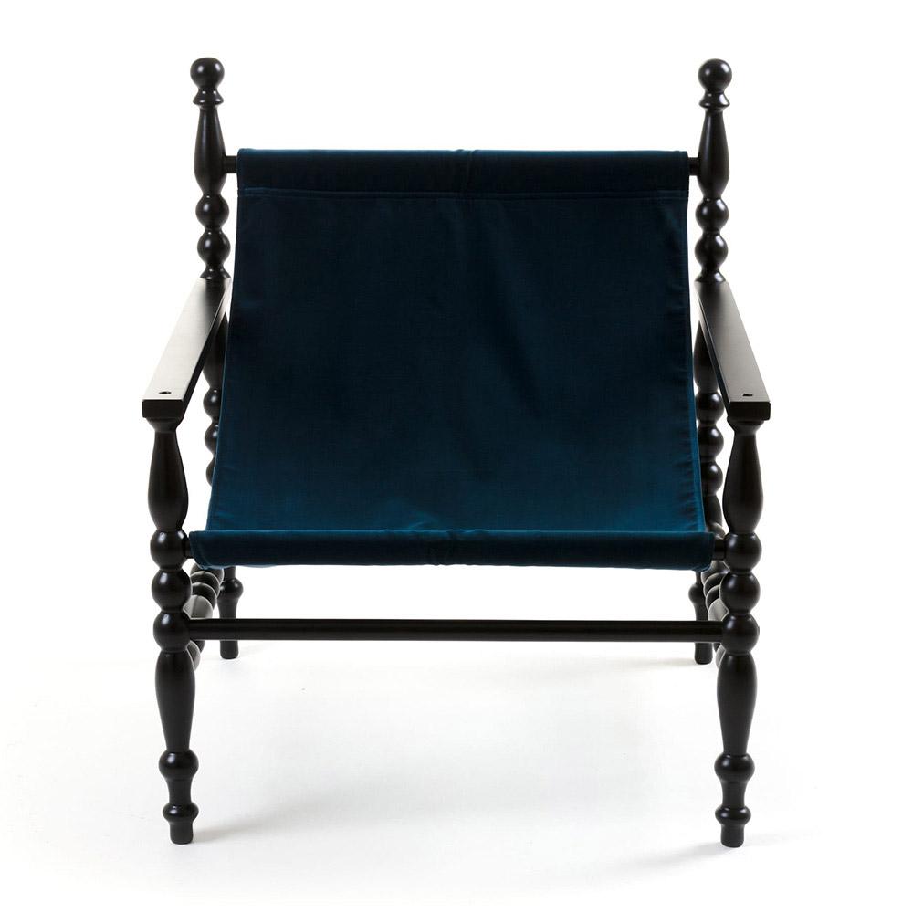Heritage Deck Armchair - Black, Blue
