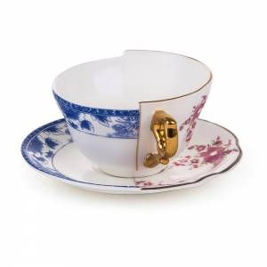 Hybrid Teacup With Saucer - Zenobia