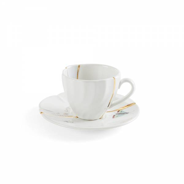 Kintsugi Coffee Cup With Saucer - No. 2