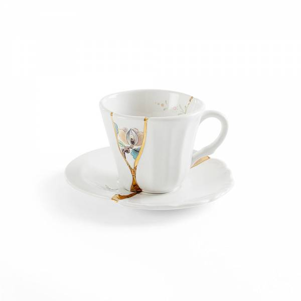 Kintsugi Coffee Cup With Saucer - No. 3
