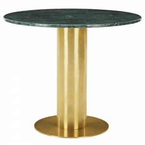 Tube Table - Green Marble Top