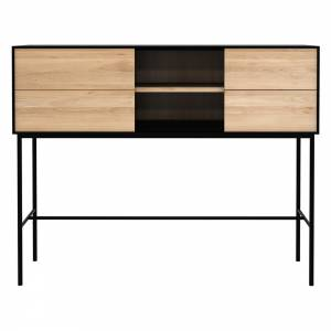 Blackbird High Console - 1 Sliding Door, 2 Drawers, Oak