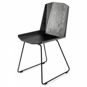 Facette Dining Chair - Oak, Black Frame