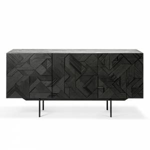 Graphic Sideboard - 3 Doors - Black Teak