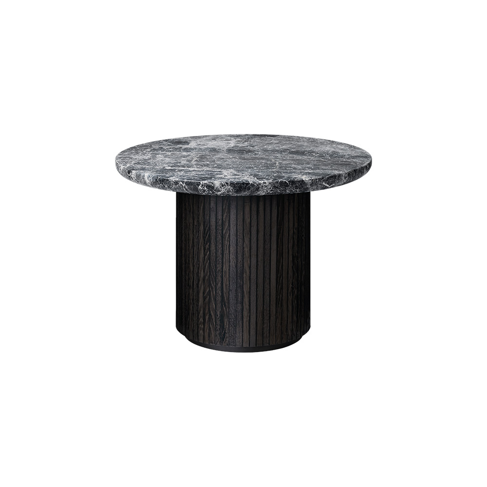 Moon Round Coffee Table – Gray Marble Top – Rouse Home