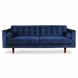 N101 3 Seater Sofa - Blue Velvet
