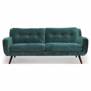 N801 3 Seater Sofa - Green Velvet