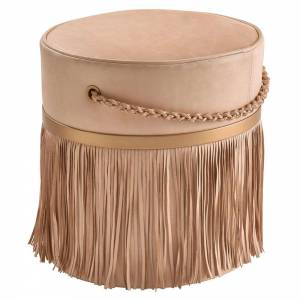 Serena Pouf - Leather