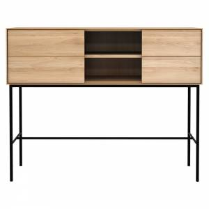 Whitebird High Console - 1 Sliding Door, 2 Drawers, Oak