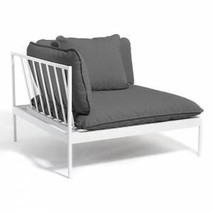 Bonan Sofa Corner - Dark Gray Sling, Dark Gray Frame