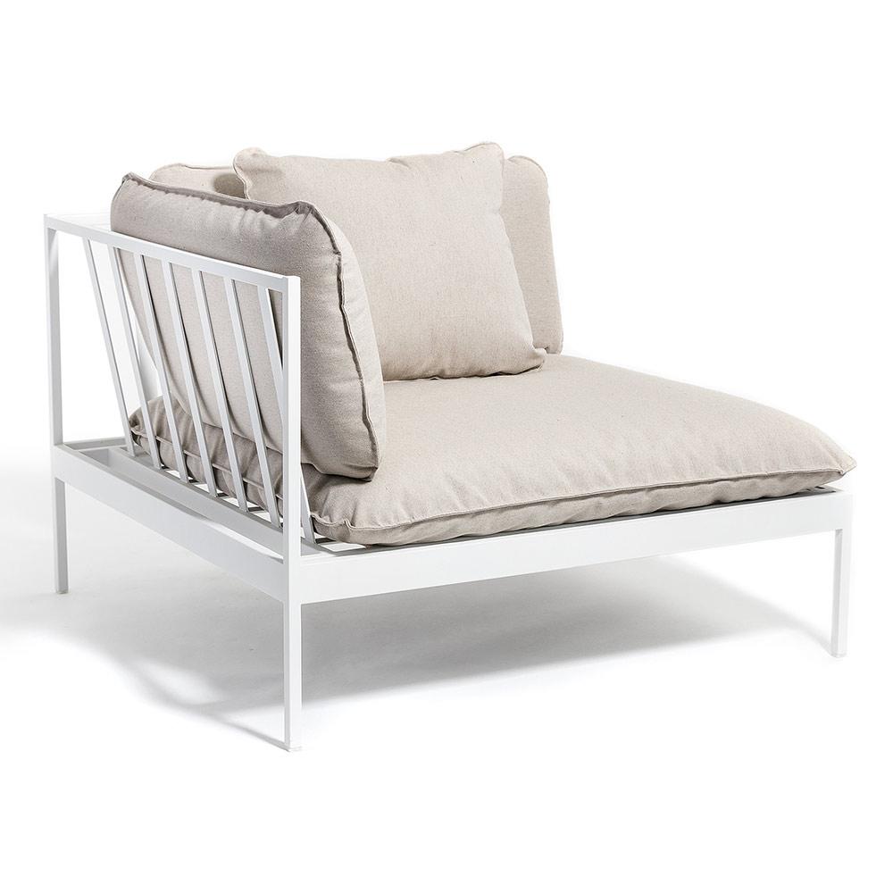 Bonan Outdoor Sofa Corner - Light Gray Ashe, Light Gray Frame
