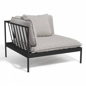 Bonan Sofa Corner - Light Gray Sling, Dark Gray Frame