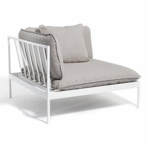 Bonan Sofa Corner - Light Gray Sling, Light Gray Frame
