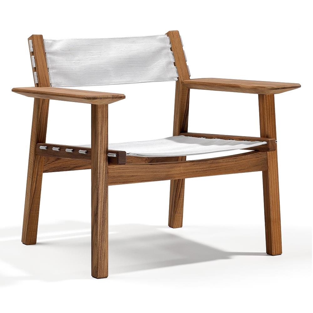 Awesome Djuro Outdoor Lounge Chair White Fabric Teak Machost Co Dining Chair Design Ideas Machostcouk