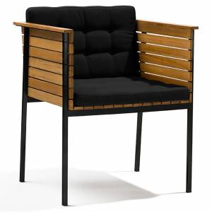 Haringe Armchair - Black Cushions, Black Frame