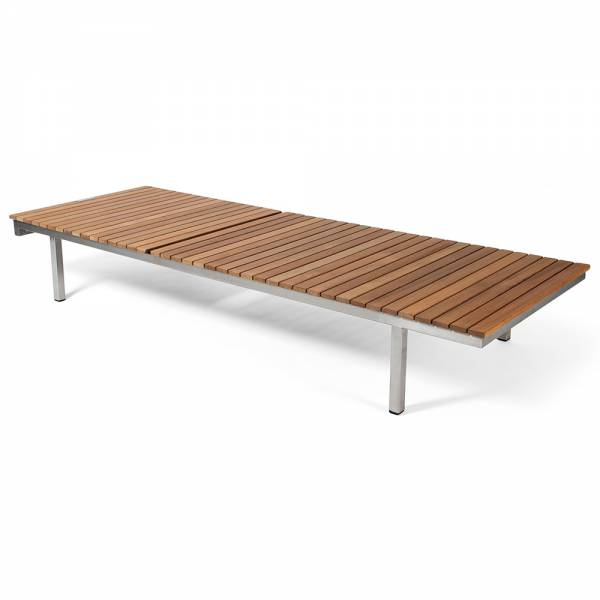 Haringe Sun Lounger - Teak, Brushed Stainless Steel