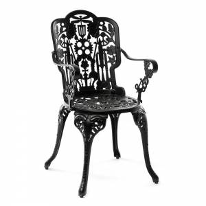 Industry Aluminum Armchair - Black