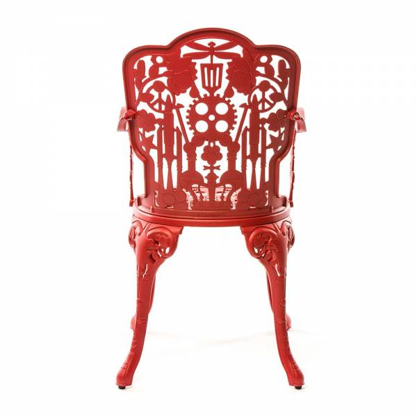 Industry Aluminum Armchair - Red