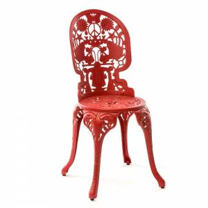 Industry Aluminum Chair - Red