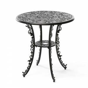 Industry Aluminum Round Table - Black