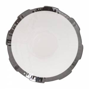 Machine Porcelain Soup Plate - Design 1, Silver Edge, Set of 6