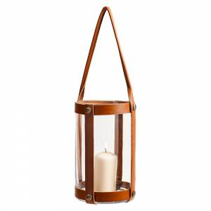 Marstrand Candle Lantern - Light Brown