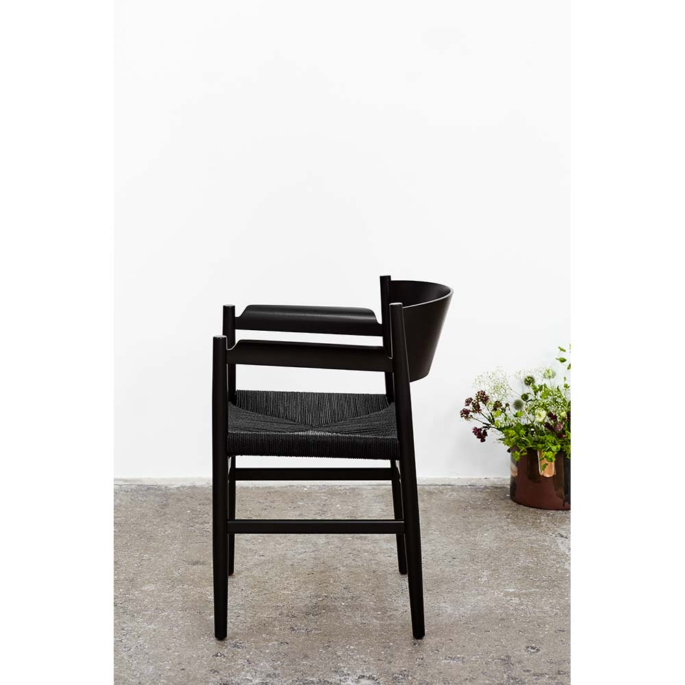 Prime Nestor Armchair Paper Cord Seat Black Beech Caraccident5 Cool Chair Designs And Ideas Caraccident5Info