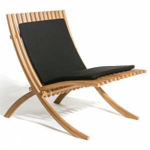 Nozib Lounge Chair - Black Cushion, Teak