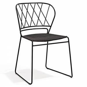Reso Chair - Dark Gray Fabric, Black Frame