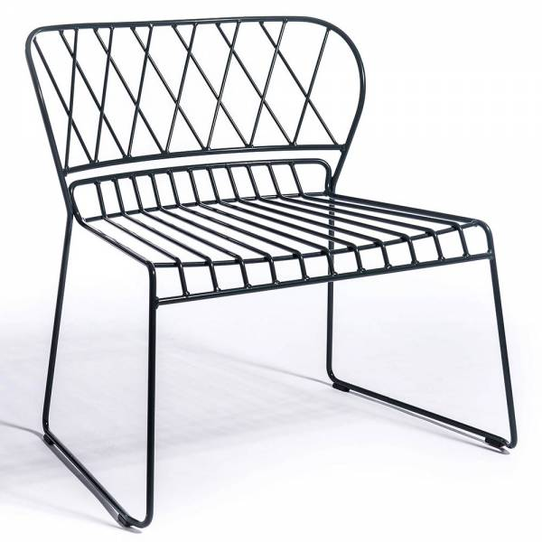 Reso Outdoor Lounge Chair - Black | Rouse Home