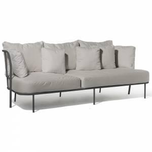 Salto Sofa - Gray Cushions, Charcoal Gray Frame
