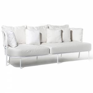 Salto Sofa - White Cushions, White Frame