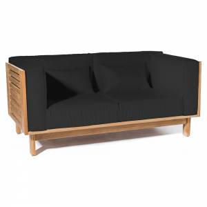 Skanor 2-Seater Sofa - Black
