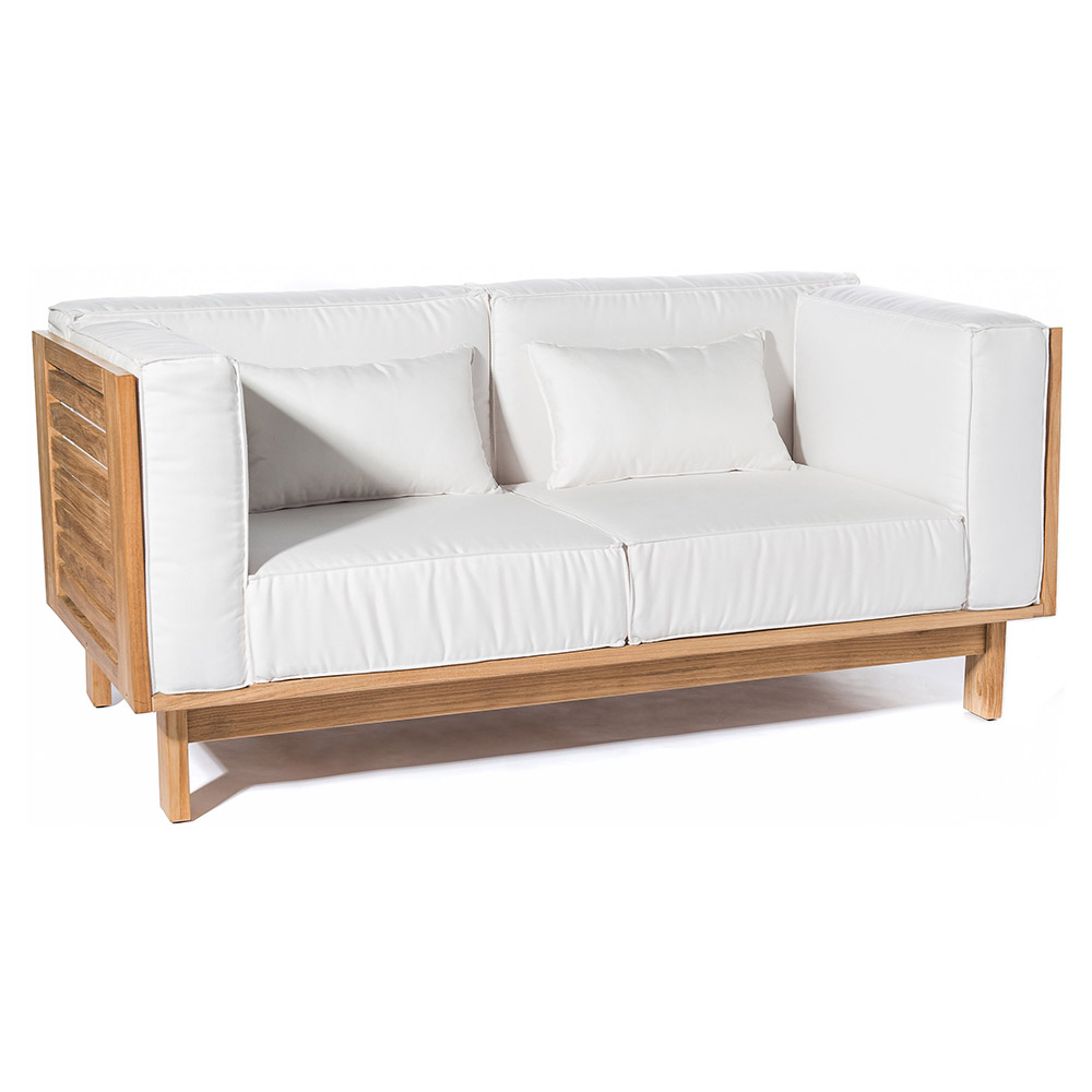 Skanor Outdoor 2-Seater Sofa – White – Rouse Home