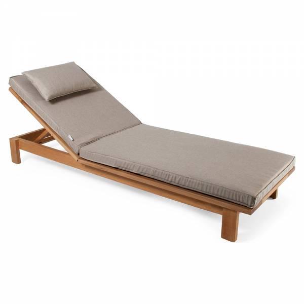 Skanor Sun Lounger - Beige Cushion, Teak