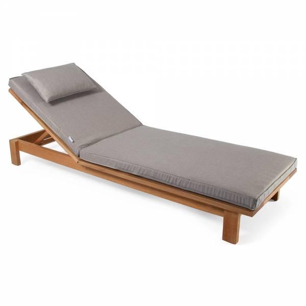 Skanor Sun Lounger - Light Gray Cushion, Teak