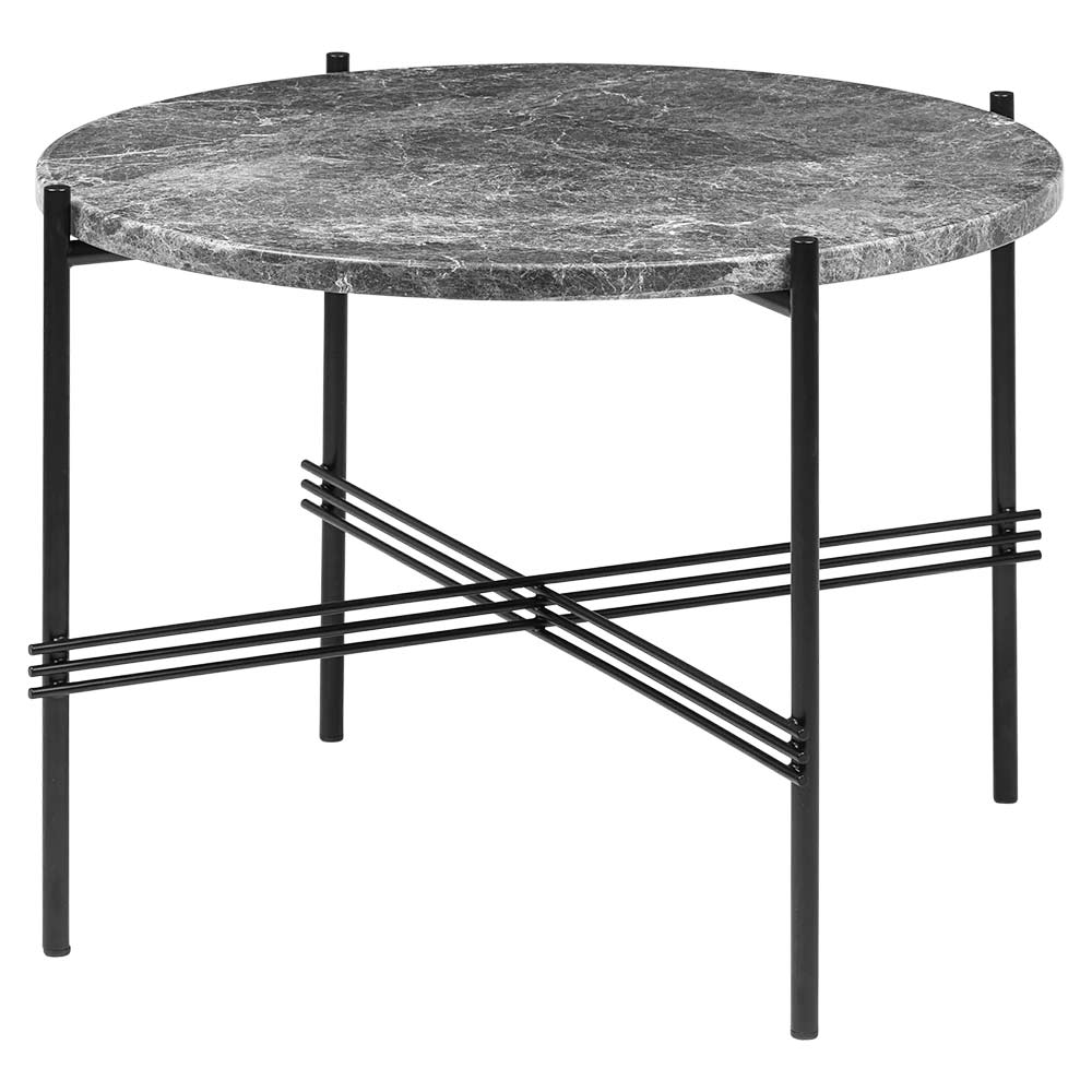Ts Round Coffee Table Small Gray Marble Black Rouse Home