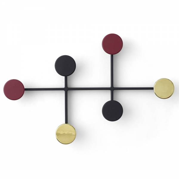Afteroom Coat Hanger - Black, Brass