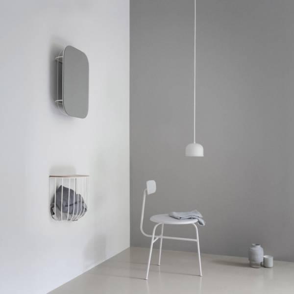 Cage Mirror - White